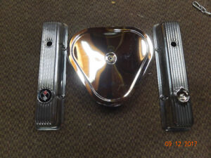 new corvette finned valve covers & triangle air cleaner  $300