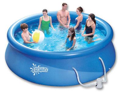 Schwimmbecken 366x91cm Quick Up Pool Kartuschenfilter Filteranlage Planschbecken