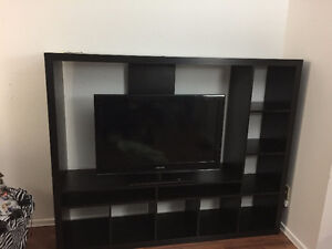 IKEA TV stand with book shelves