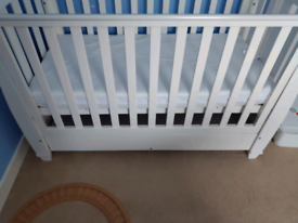 Cot with drawer and mattress