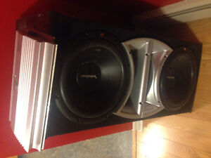 12' duel Rockford fosgate Subs WITH AMP
