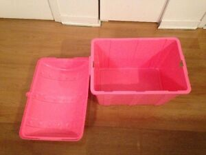 Pink Storage box with dome shape cover West Island Greater Montréal image 3