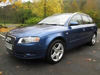 07/56 AUDI A4 2.0 TDI SE 140 BHP AVANT IN MET BLUE WITH SERVICE HISTORY