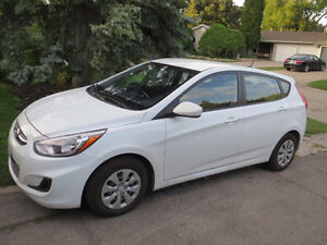 LOW KM, LEASE TAKE-OVER!!!! 2016 Accent Hatchback w. EXTRAS!!!