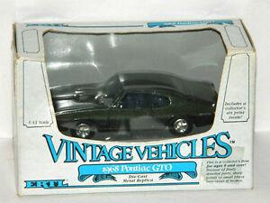 Ertl 1/43 Scale 1968 Pontiac GTO Diecast Car Dark Green