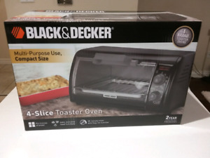Brand New Toaster Oven - BLACK & DECKER INCLUDE BAKE PAN/ BROIL