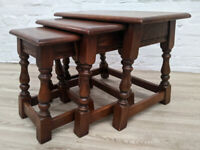Old Charm Nest Of Tables (DELIVERY AVAILABLE)