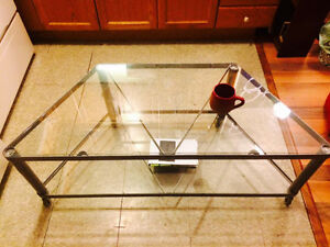 Double-deck Glass Coffee Table