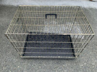"""Dog crate - metal, good condition 20"""" tall"""