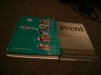 Textbooks for sale- Retailing and Event Planning