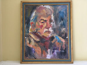 "Original oil painting ""The Old Man"" by Sylvia Ireland"