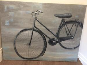 Painting Bicycle Large Acrylic