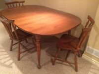 Vilas dining table solid maple.