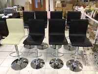 Bar stools height adjusting & swivel with foot rest