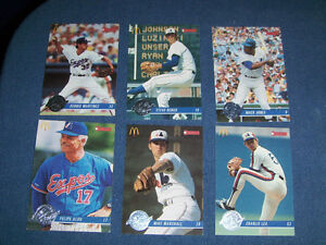 LOT OF 6 EXPOS BASEBALL CARDS-1993-MCDONALD'S/DONRUSS