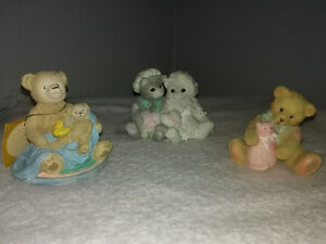 Tender Teddy Bears, Calico Kittens, Timothy figurines
