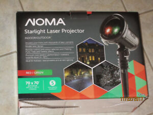 NEW in box NOMA Starlight Laser Projection Light, Red/Green