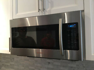 Manufactured in 2017 Samsung over range stainless steel microwav