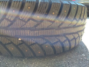 2 STUDDED WINTER TIRES 185/65R14