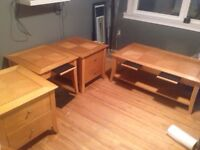 4 piece coffee and end tables