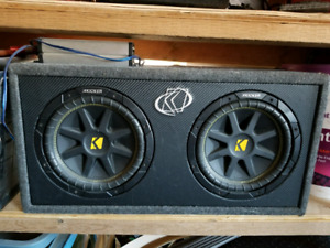 "10"" Kicker Dual Subwoofer With Amplifier"