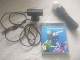 PS3 Move controller + Camera + Bioshock Infinite + Starter disc