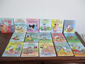 Collection  Disney De 16  Petits  Livre Cartonner  Épais  Glacer