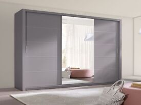 Wardrobe 250cm Grey