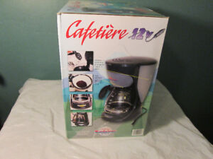 camping coffee maker, 12 volt