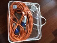 New 240v hook up lead for caravan or camping