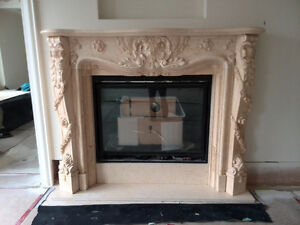 real marble fireplace mantel