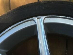 17 inch 5x113 rims one has MAJOR curb damage  Cambridge Kitchener Area image 2