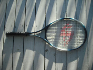 Blue Tennis Racquet