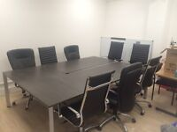 Boardroom table and office chairs for sale