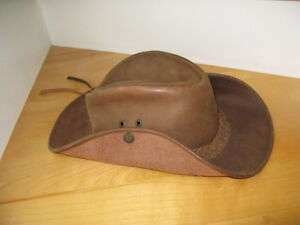 Thick Leather Cowboy Hat - Custom Made in Europe Lithuania Sz M*