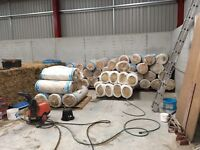 Glass wool £10 a roll , various sizes