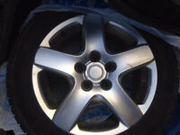 Alloy Rims with Michelin X-ice snow tires - 205/55 R16