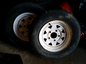 2 Utility Trailer Rims Only