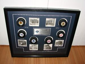 Hockey Collectible - signed pucks and 1st Hockey Arenas signed