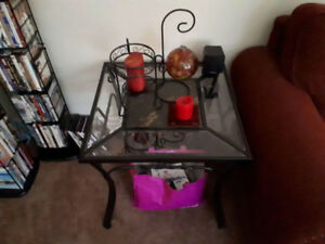 Glass coffee and end tables