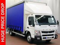 2016 FUSO CANTER 7C18 43 curtainsider, Delivery Miles Only Diesel white Automati