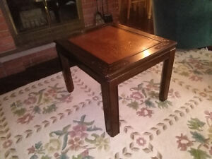 End Tables: Beautiful etched flower design London Ontario image 1