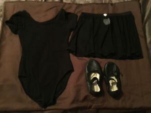 Ballet/jazz outfit * size 4/5/6 shoes size 10.5 (fit like 9)