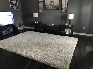 "Large Gray Shag Rug - 96"" x 128"" (8 ft x 10 ft 8 inches)"