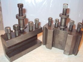 T2 QUICK CHANGE TOOL HOLDERS-USED-IN GOAVE 10 FOR SALE IN GOOD CONDITION -I H