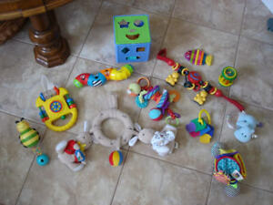Bag of infant toys