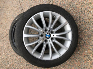 BMW Rims and 245 45 18 BF Goodrich Runflat Tires, 75% remaining