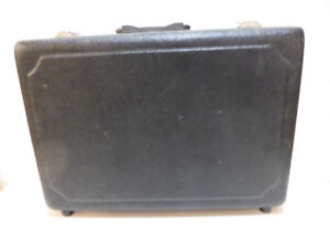 BLACK HARD-SIDED TEXTURED BRIEFCASE TO HOLD CRAFT SUPPLIES