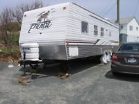 Travel trailer and Lan