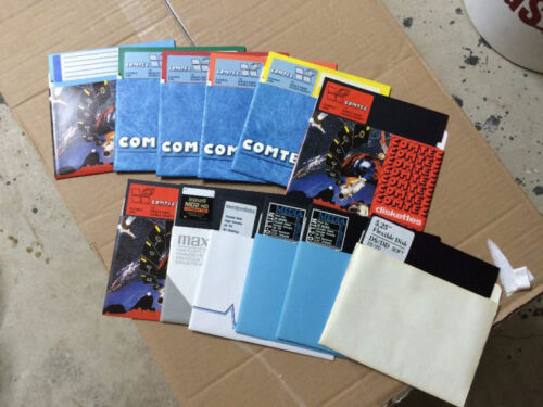 "LOT of 44 5.25"" Diskettes Diff. Colors New/Factory record Apple II IBM Floppy"